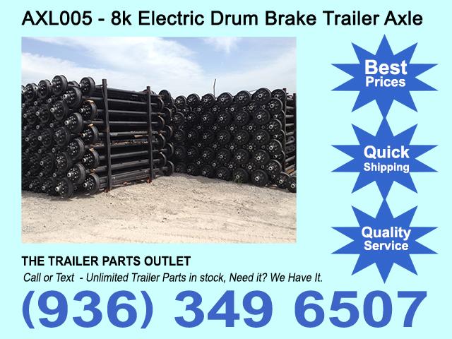 New 8k electric brake trailer axle 8000 lb 8 lug lippert tk new 8k electric brake trailer axle 8000 lb 8 lug lippert publicscrutiny Images