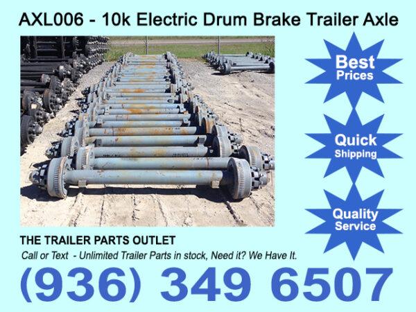 New 10k Electric Brake Trailer Axle - 10000 lb - Dexter - 74/47
