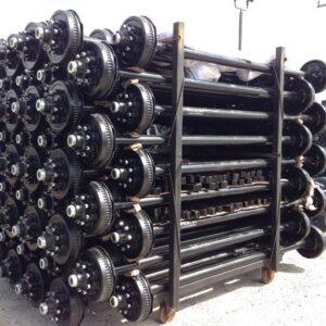 7k Electric Drum Brake Trailer Axle - 7000 lb Capacity Set