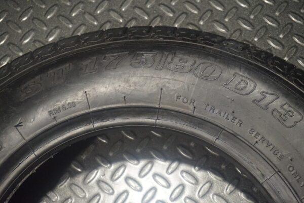 "13"" inch 6 ply Bias Trailer Tire - ST 175/80 D13 - Load Range C"