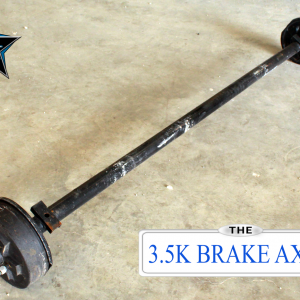3.5k Dexter Trailer Axle - 3500 lb Electric Brake 5 lug