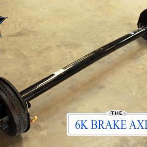 6000 lb Dexter Trailer Axle - 6k 12x2 Electric Brake 6 lug