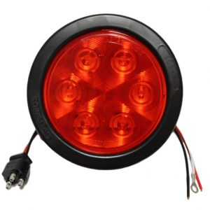 "4"" Round Sealed LED Stop/Turn/Tail Light - Red - 7 Diodes - STL13RKB"