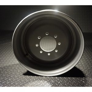 17.5 Inch 8 lug Silver Solid Steel Dual Trailer Wheel 8x275mm
