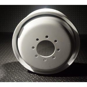 17.5 Inch 8 lug White Solid Steel Dual Trailer Wheel 8x6.5